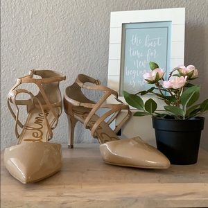 💕Sam Edelman Ankle Strap Pointed Stiletto